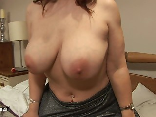 Bigtitted older whore going wild