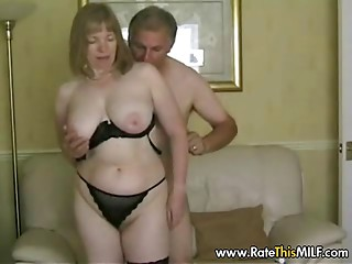 Rate My Cougar - old slut aged in nylons engulfing jock