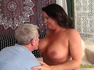 Grandma takes chubby penis