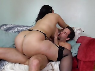 World greatest butt big breasted Mommy overspread by cum