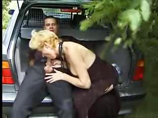 Grandmother Car Tailgate Bonk