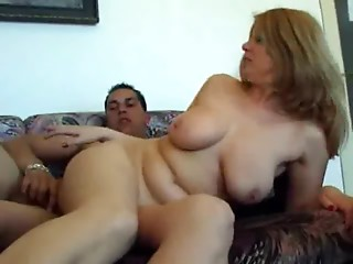Sexy blonde Mama and NOT her Son