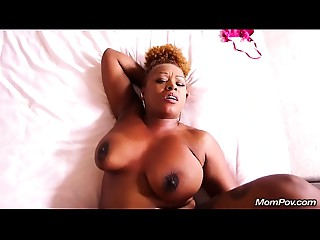 Old Ebon BBW Can't live without THICK WHITE Dong