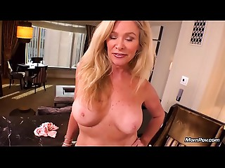 Hawt Aged Golden-haired MILF Copulates Youthful Pecker POV