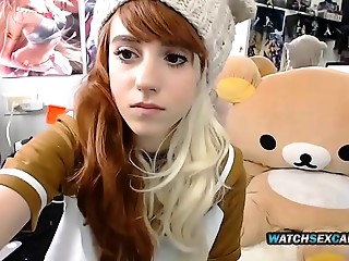 Cute Miniature Redhead Stepsister Young slut Fucking Snatch Doggy position Web camera WatchSexCam.com