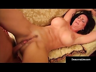Large Breasty Milf, Deauxma, Copulates Juvenile Man As Hubby Watches!