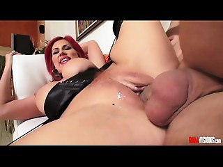 Latin Cougar Savana Styles Receives Filled with Large Ramrod