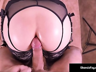 Sexy HouseWife Shanda Fay Acquires Screwed Anally By Lustful Client!