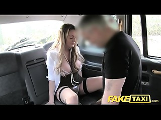 Fake Taxi Breathtaking Welsh MILF with sexy body
