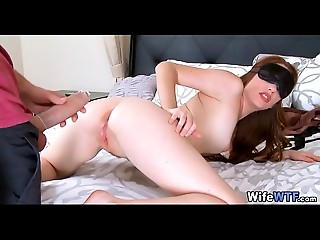 Blindfolded Wife acquires a Large Surprise