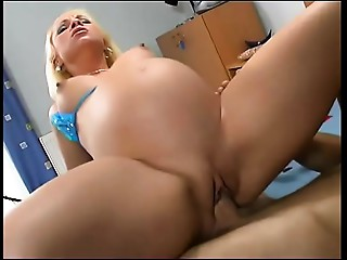 Preggy blond wishes a large dick in her pussy!