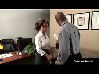 MILF Boss, Deauxma, Can&#039_t Fire Her Most good Worker&#039_s Darksome Cock!