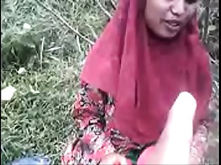 Bangladeshi Muslim Village Angel Shows Bazookas &amp_ Snatch Outdoor