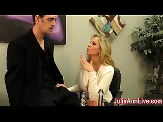 Hawt Cougar Julia Ann Milks Him on Date Night!