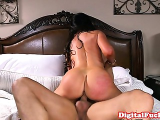 Bigboobed older team-fucked hard in bedroom