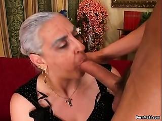 Grandmother 1st Giant Rod Anal job