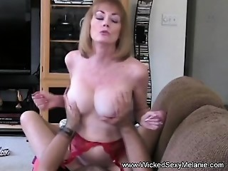 Mother Riding Son&#039_s Penis On The Bed
