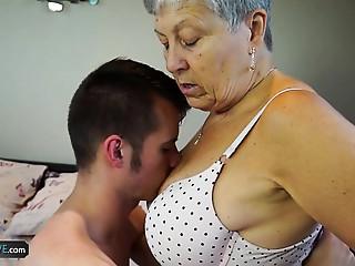 AGEDLOVE Old slut Savana drilled with truly hard stick