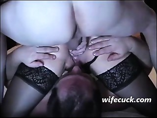 Cuckold, my wife copulates in anal, cleanup