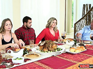 Mommys Team fuck Young slut - Nasty Family Thanksgiving