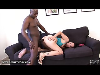 Interracial Porn Older White Woman Screwed by Dark fellow snatch and anal invasion job