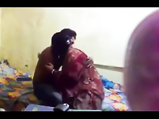 Unsightly elder Indian aunty is getting her body