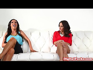 Spruce cougar from behind fucked on the ottoman