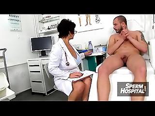 Clinic exam and wank-job from Euro large bra buddies mother I'd like to fuck Greta