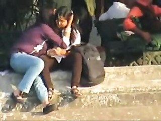 2 Clips Of Indian Lesbo Gals Caught On Webcam
