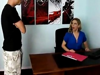 Son power copulates his hawt mother at the office