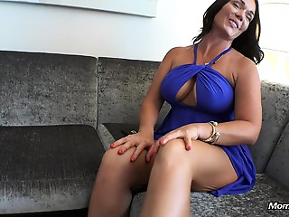 Hawt Large Bra buddies Mother I'd like to fuck Swallows Juvenile Pecker in Stairwell