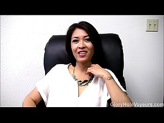 Oriental MILF Gloryhole Interview Irrumation