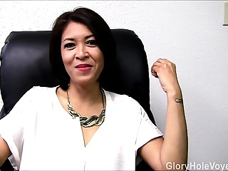 Oriental MILF Gloryhole Interview Irrumation