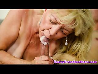 Saggytit grandma drilled passionately