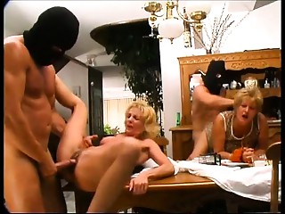2 criminals breaking in a abode and abusing 2 older babes