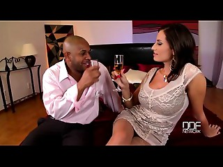 Breasty rich cougar acquires hardcore interracial screw for First time!