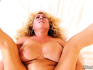 Breasty Natural Cougar acquires Ace fuck Spunk Pie