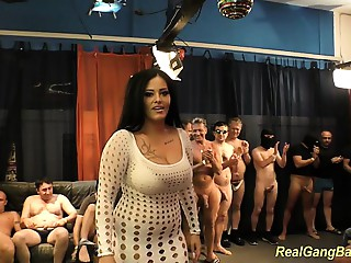 bigtitted ashley cum in real team fuck